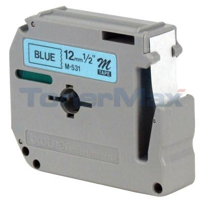 BROTHER P-TOUCH LABELERS BLACK ON BLUE 1/2IN